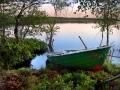 Aamu rannalla tyvenen järven