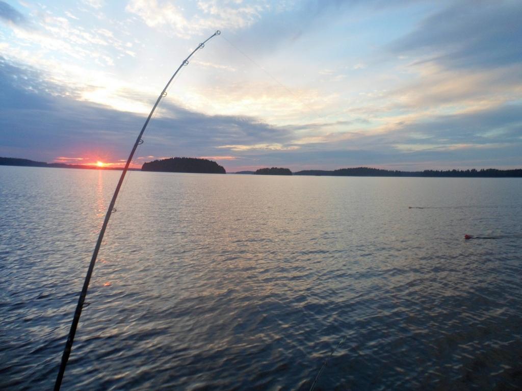 Kyrösjärvi, auringon lasku ja plaanarit