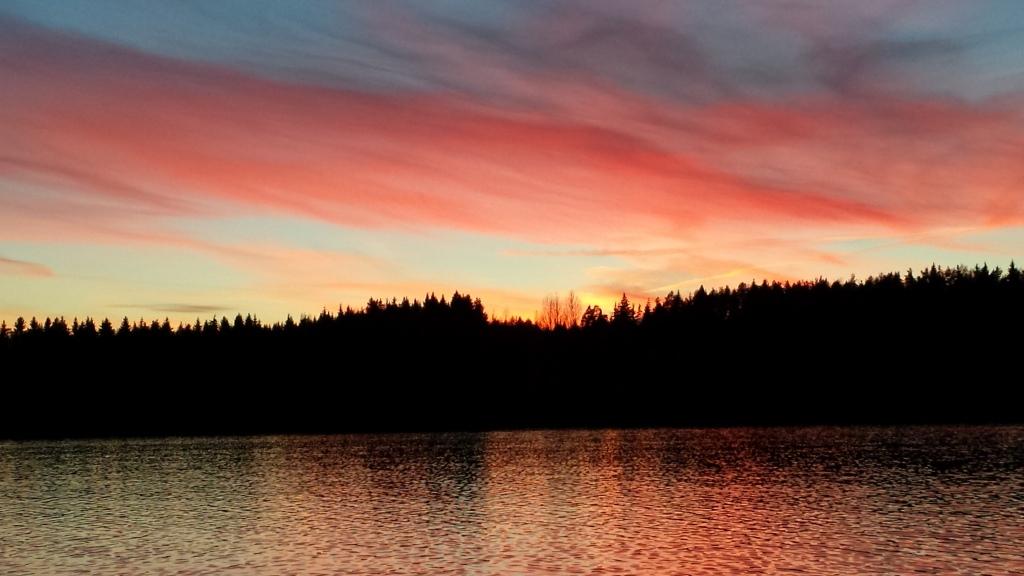Auringonlasku :D