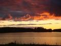 Kalareissua lopettelemassa syysillan auringonlaskuun Jämijärvellä