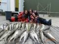Päivän saalista Norkapilla turskat 5-8 kg, useita 3-4 tärppejä, päästettiin vapauteen kymmeniä samanlaisia kaloja !
