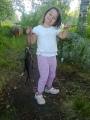Pieni tyttö, suuri kala.