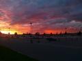 Auringonlasku. Teivaan satama, Lahti.