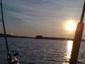 Auringon laskua Saimaalla