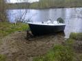 Veneen vesille laskun yhteydessä tuli uudistettua venevalkamaa