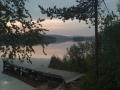 Inarijärvi, perhokerhon mökki ranta.