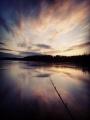 Kalastusta ilta-auringossa