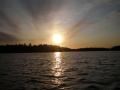 Auringonlasku Asikkalan Urajärvellä kesäkuu 2015