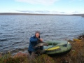 Utsjoen tunturijärvillä lähellä Norjan rajaa. (Syksy 2009)