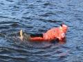 Ursuitin testausta, vänernillä 2 asteen vedessä.
